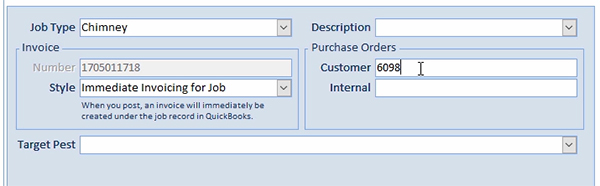 Smart Service stores customer and internal purchase order numbers separately