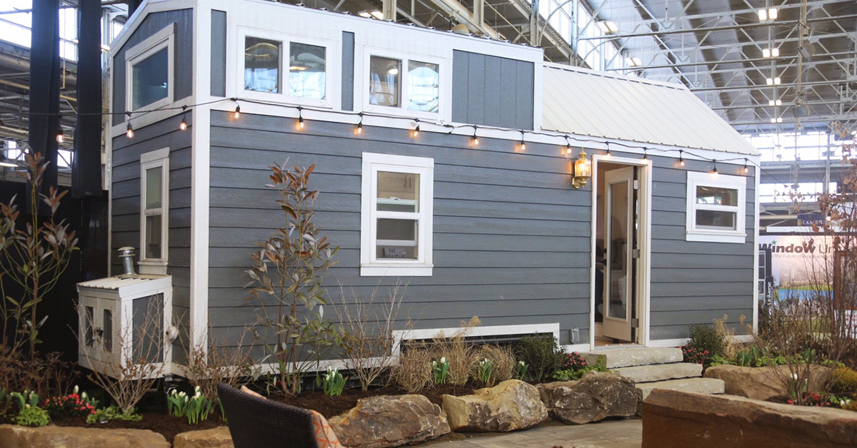 tiny home in indianapolis home show