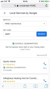 phone google guarantee
