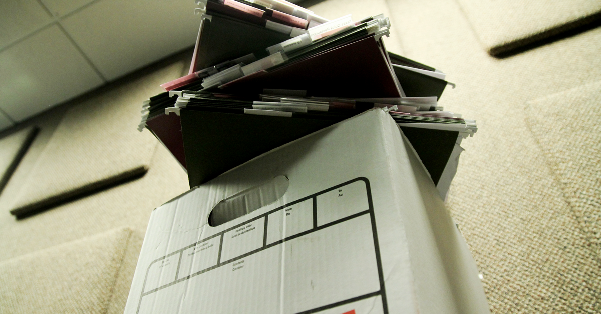 An endless sea of paperwork.