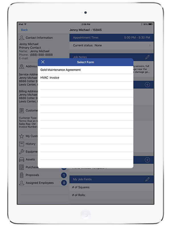 Smart Service mobile app