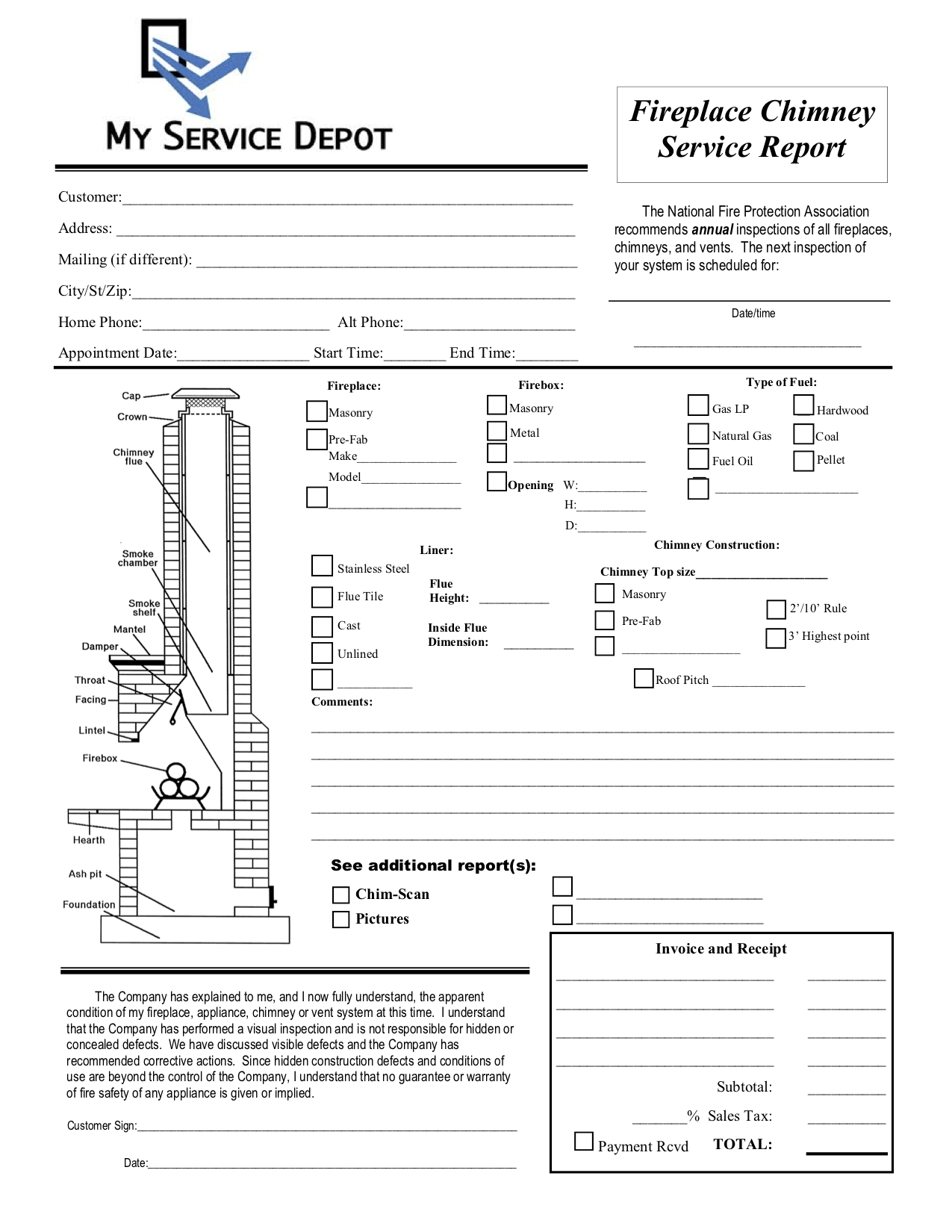 Chimney Inspection Form