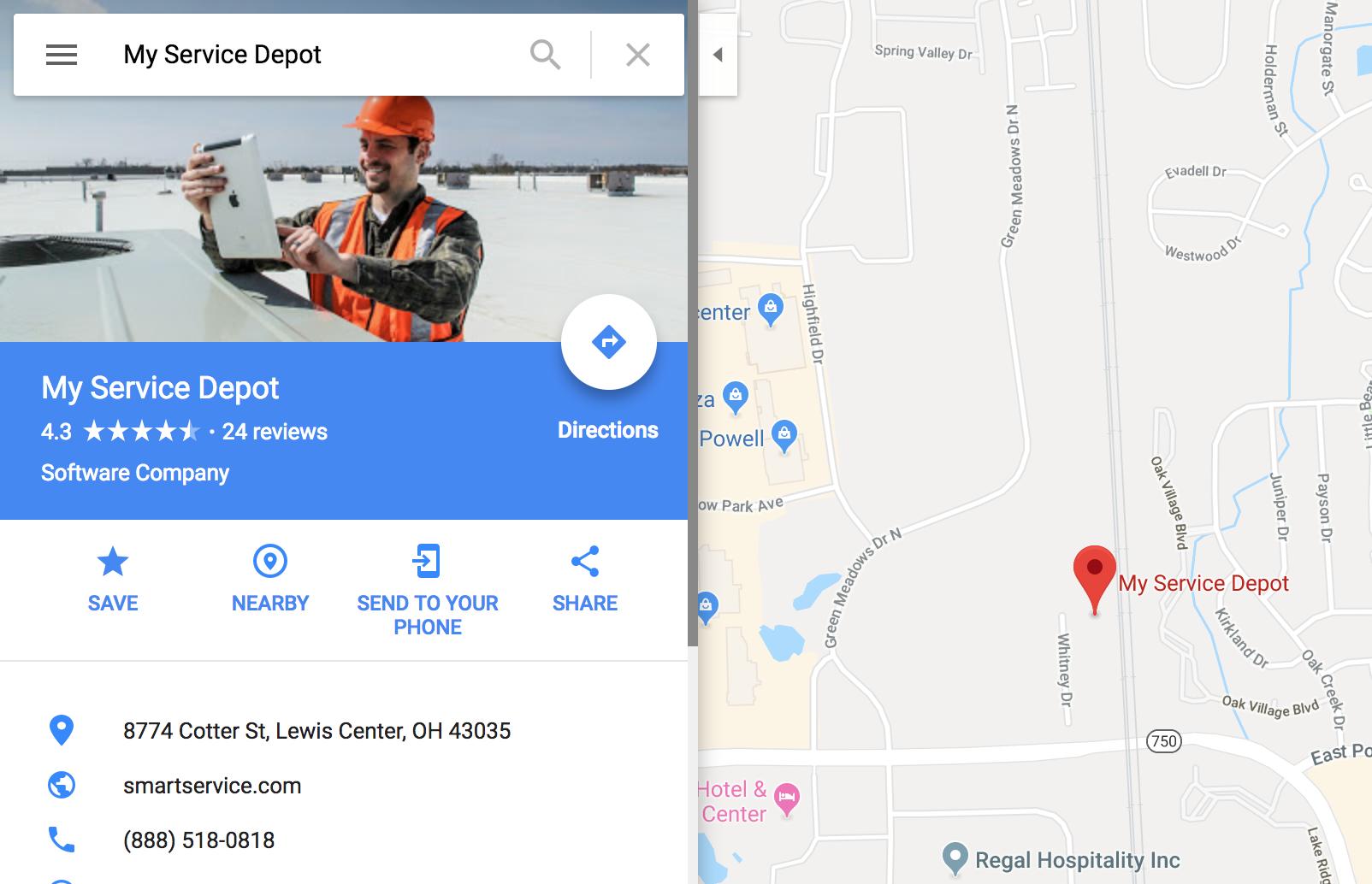 Smart Service Google My Business Page