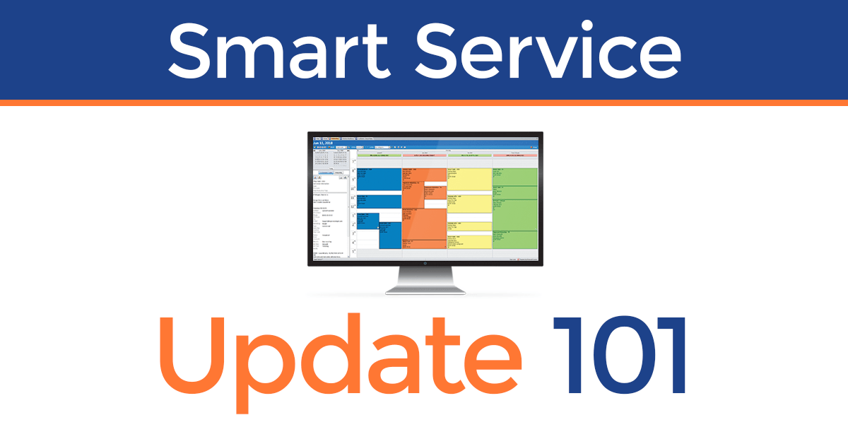 Smart Service Update 101 brings a new design to the software.