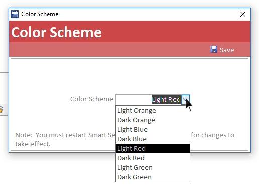 Smart Service Update 101 change color scheme
