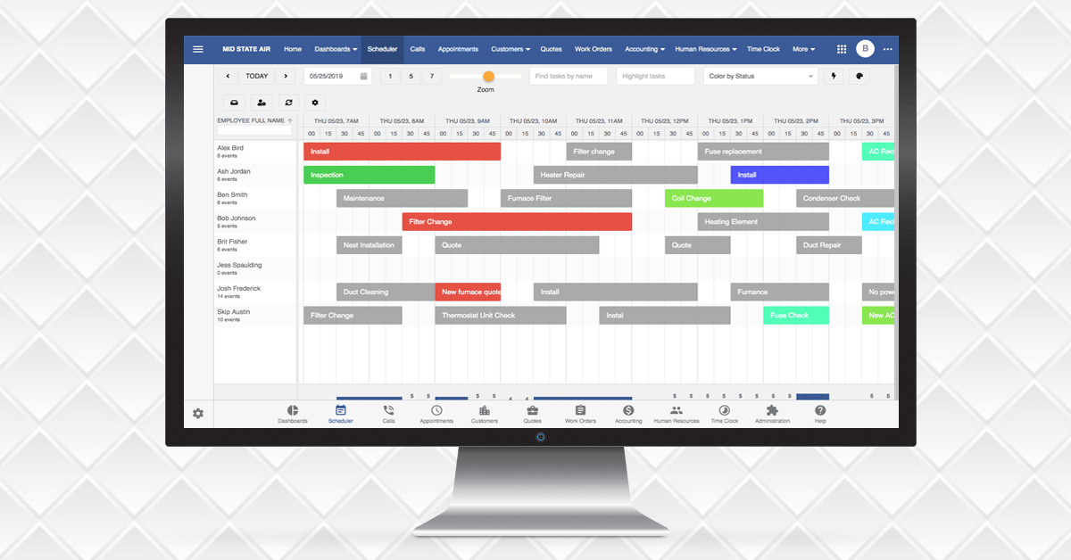Bryntum Scheduler + Smart Service 365