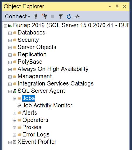 SQL Server Backup Object Explorer