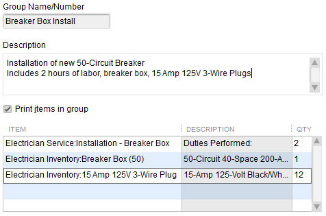 Field Service SOP - Items Group