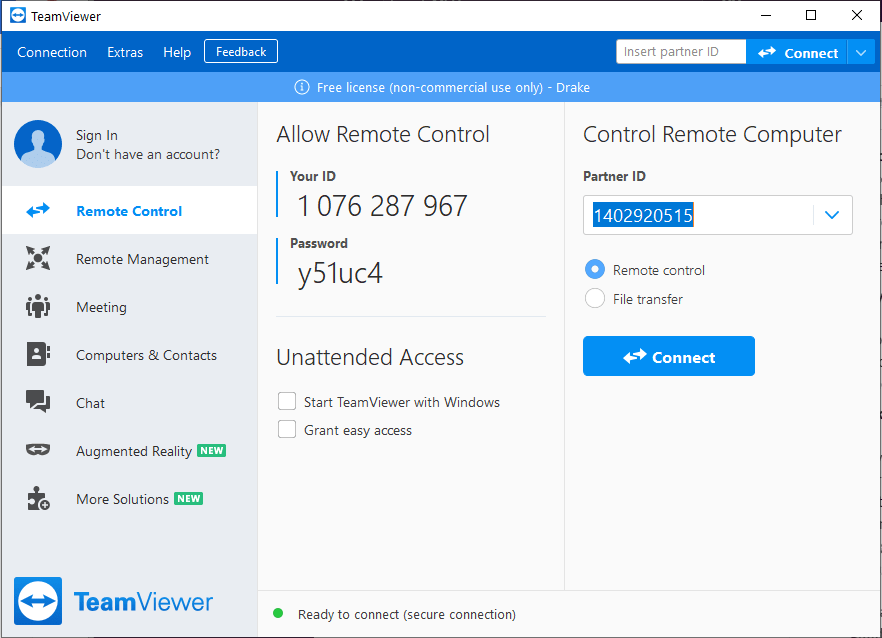 Remote Desktop Software TeamViewer