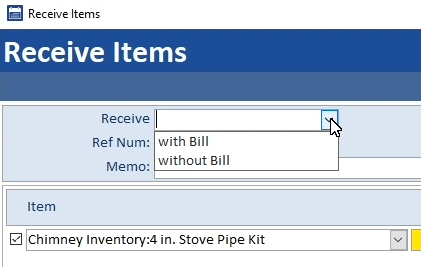 Purchase Order Options