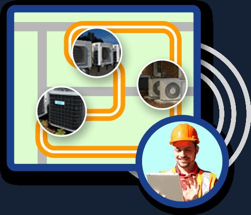 technician locating equipment